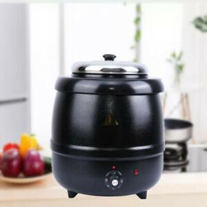 Suppenkessel Elektrisch 400W 10L Suppenkocher Suppentopf Suppenwärmer 220V