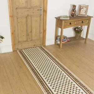 runrug Carpet Runner Rug Hallway - Width 70cm x 175cm Long - Montrose Cream