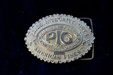 Military Police Brass Belt Buckle Pride Integrity Guts American's Finest Mp 1968