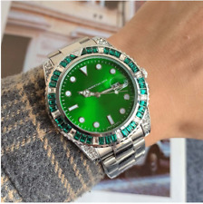 2020 Best  Products Men's Watches  Diamond type Green Dial  Quartz Watch gift