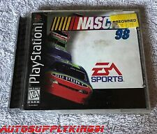 NASCAR 98 (Sony PlayStation 1 PS1, 1997) Game Complete CIB Black Label Tested