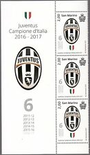 FRANCOBOLLI NUOVI SAN MARINO Juventus CAMPIONE D'ITALIA  2016 - 2017 6° SCUDETTO