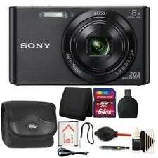 Sony DSC-W830 20.1MP Point and Shoot Digital Camera (Black) + 64GB Accessory Kit