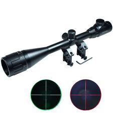 6-24x50 Rifle Scope Red & Green mil-dot illuminated Optical Gun Scope w/ Mounts