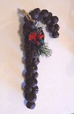 Rusty Metal Look Jingle Bells Candy Cane Pine Cone Christmas Ornament Decoration