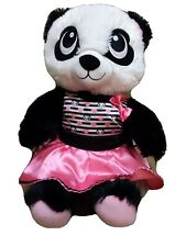 Build a Bear White Black Pink Panda Harajuku Hugs Teddy Matching Bow dress 18""