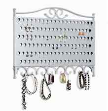 Jewelry Storage Organizer Earring Accessories Holder Wall Mounted Hanger Silver