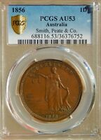 RARE Australia 1 Penny 1856 Smith Peate Sydney NSW PCGS AU53 Tn# 211 Token Coin