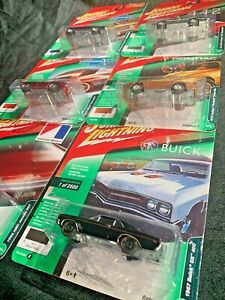 JOHNNY LIGHTNING Classic Gold 2018 -release 3 COMPLETE SET of 6 - Mustang Chevy
