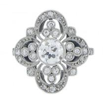 Diamond 925 Sterling Silver Wedding Ring Antique Vintage 2.70 Ct Round Cut White