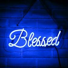 Neon Signs Blessed Neon Light Handmade Glass 3D Visual Effect Decorative Sign 15