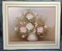 Vintage Original Artist Signed Flower Floral Still Life