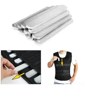 12pcs Steel Plates Weighted Vest Workout Jacket for Gym Running Training