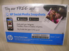 """HP Glossy Photo Paper 4 X 6"""" inkjet Not Opened 20 Sheets"""