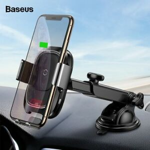 Baseus Qi Car Wireless Charger Infrared Induction Fast Charging Car Holder Stand