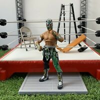 RARE WWE KALISTO LUCHA MATTEL ELITE WRESTLING ACTION FIGURE Green Black