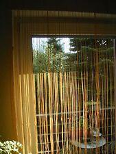 Faden Vorhang Gardine Store Insektenschutz Schlaufenband B/H 195x 245 sonnengelb