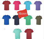 10 PACK of random colored Hanes T-Shirts soft short sleeve - MO100