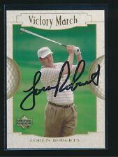 2001 Upper Deck Golf PGA #147 Loren Roberts Autograph Auto Signed