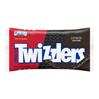 TWIZZLIERS - TWISTED LICORICE FLAVORED CHEWY CANDY 16oz - PACK OF 3