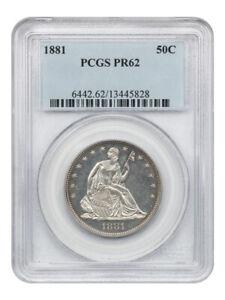 1881 50c PCGS PR 62 - Low Mintage Proof - Liberty Seated Half Dollar