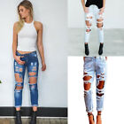 Womens Distressed Skinny Denim Jeans Ladies Ripped Frayed Torn Stretch Fashion