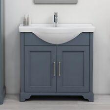 Traditional Victorian Blue Oak Bathroom LG Vanity Basin Washstand Unit with Sink