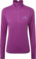 Ronhill Stride Thermal Half Zip Long Sleeve Womens Running Top - Purple
