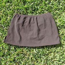"Lands End 12"" Modest Swim Skirt - Tummy Control Panty - Dark Brown - Womens 4"