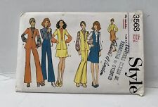 Style Vintage 1970s Pattern Grants Of Croydon Cut No 3568 Trouser Skirt Cardi