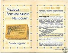 LOREO PUBBLICITARIA ANTIMALARIA DOPPIA (ROVIGO) 1936