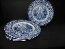 Staffordshire China Liberty Blue Dinner Plates (set of 4)  ..