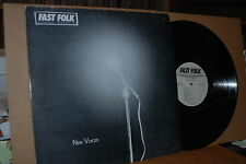 FAST FOLK MUSICAL MAGAZINE: NEW VOICES; VOLUME 5, NO. 4 MINT- 1990 LP; NOT ON CD