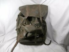 Vintage Swiss Army Rubberized Waterproof & Leather Military Rucksack Backpack