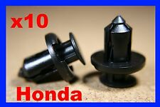 10 Honda front bumper fender panel push type fastener retainer clips