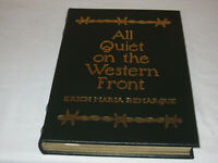 Easton Press ALL QUIET ON THE WESTERN FRONT Erich Maria Remarque LEATHER FINE!