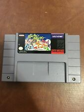 SNES Super Nintendo Pocky & Rocky One 1 Is Like 2 Cart Only