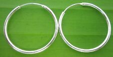 BUY 4 GET 1 FREE - 925 sterling silver (1.5 x 25mm ) HOOP SLEEPER Earring UNISEX