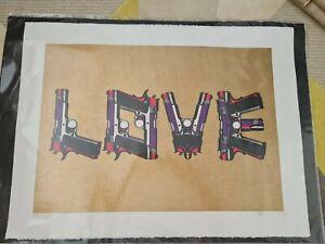 Paul Insect Print Love Guns Lazarides Provenance