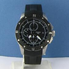 Tissot T0624271705700 Navigator Chronograph Black Dial Steel Rubber Watch $1095