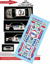 """DÉCALS 1/24 réf 379 BMW M3 """" Duez - Lopez""""  Tour de Corse 1989"""