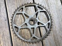 ANTIQUE BIKE BICYCLE CHAINRING OLD ONE PIECE CRANK CHAINRING 3
