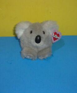 "Swibco Puffkins Aussie Koala Bear Beanbag Plush Stuffed Animal Toy Gray 4"" w/Tag"