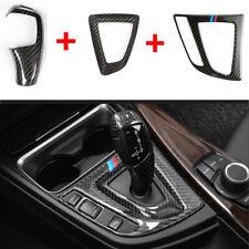 Carbon Fiber Gear Shift Knob Trim Base Cover For BMW F10 F20 F30 F22 F32 X3 X4X5