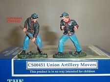 COLLECTORS SHOWCASE CS00451 AMERICAN CIVIL WAR UNION ARTILLERY MOVERS FIGURE SET