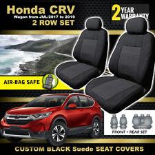 Black Honda CR-V SEAT COVERS 2Row 5 Seater VTi VTi-s VTi-LX CRV 7/2017-2019