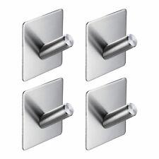 4x Bathroom Hook Towel Hanger Self Adhesive Stainless Steel Kitchen Hotel Holder