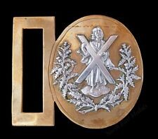 Cameron Highlanders Officer's or Piper's Dirk Belt or Waist Belt Buckle Badge