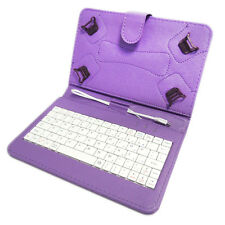 """TESCO HUDL 2  PU LEATHER KEYBOARD CASE COVER STAND FOR 8.3"""" INCH HUDL TABLET"""