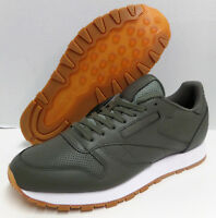 REEBOK CLASSIC LEATHER PG US 10.5 / EUR 44 Olive Green White TRAINER SHOE BD4648